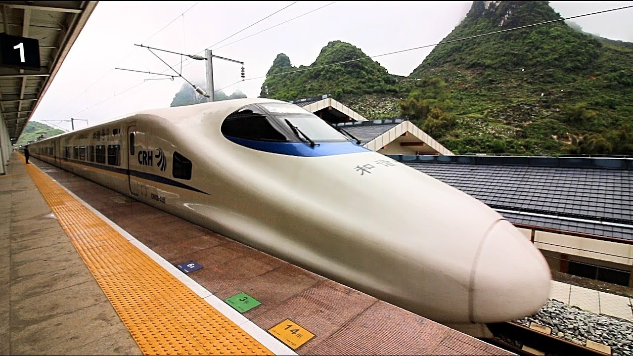 China High Speed Rail (CRH) REVIEW - Over 300kmh | Amazing ...