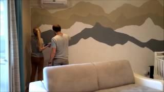 Окраска стен за 2 минуты