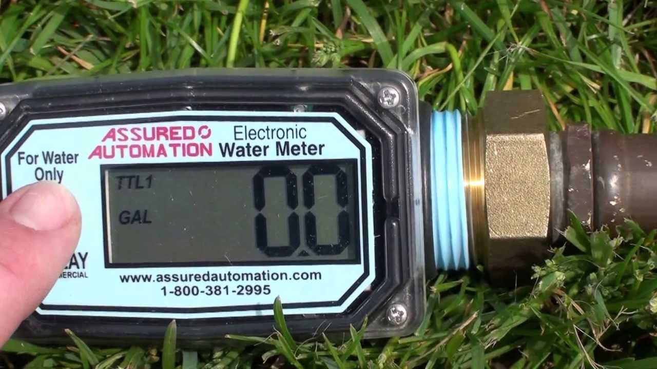 Economy Digital Water Meter with Garden Hose Adapters YouTube