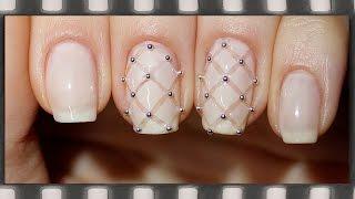 Стеганый маникюр. Нежный дизайн ногтей обычным лаком | Quilted Nail Art