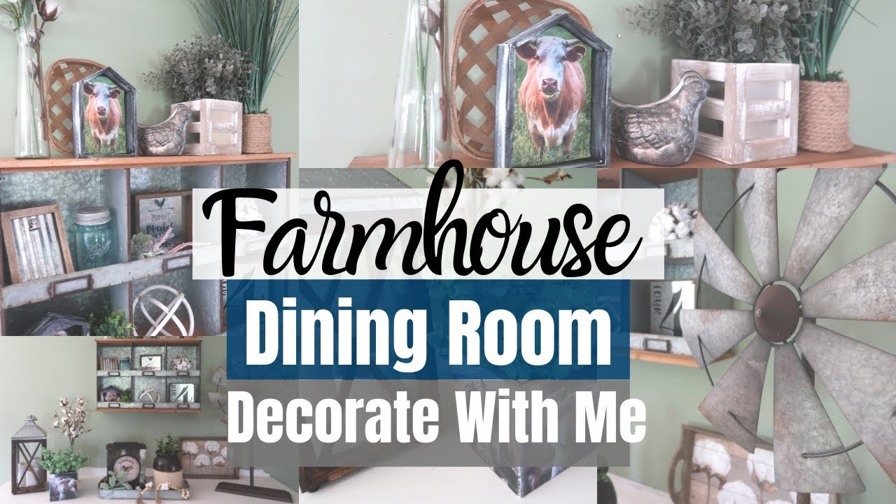 Farmhouse Decorate With Me Farmhouse Dining Room Hobby Lobby Home Decor Youtube