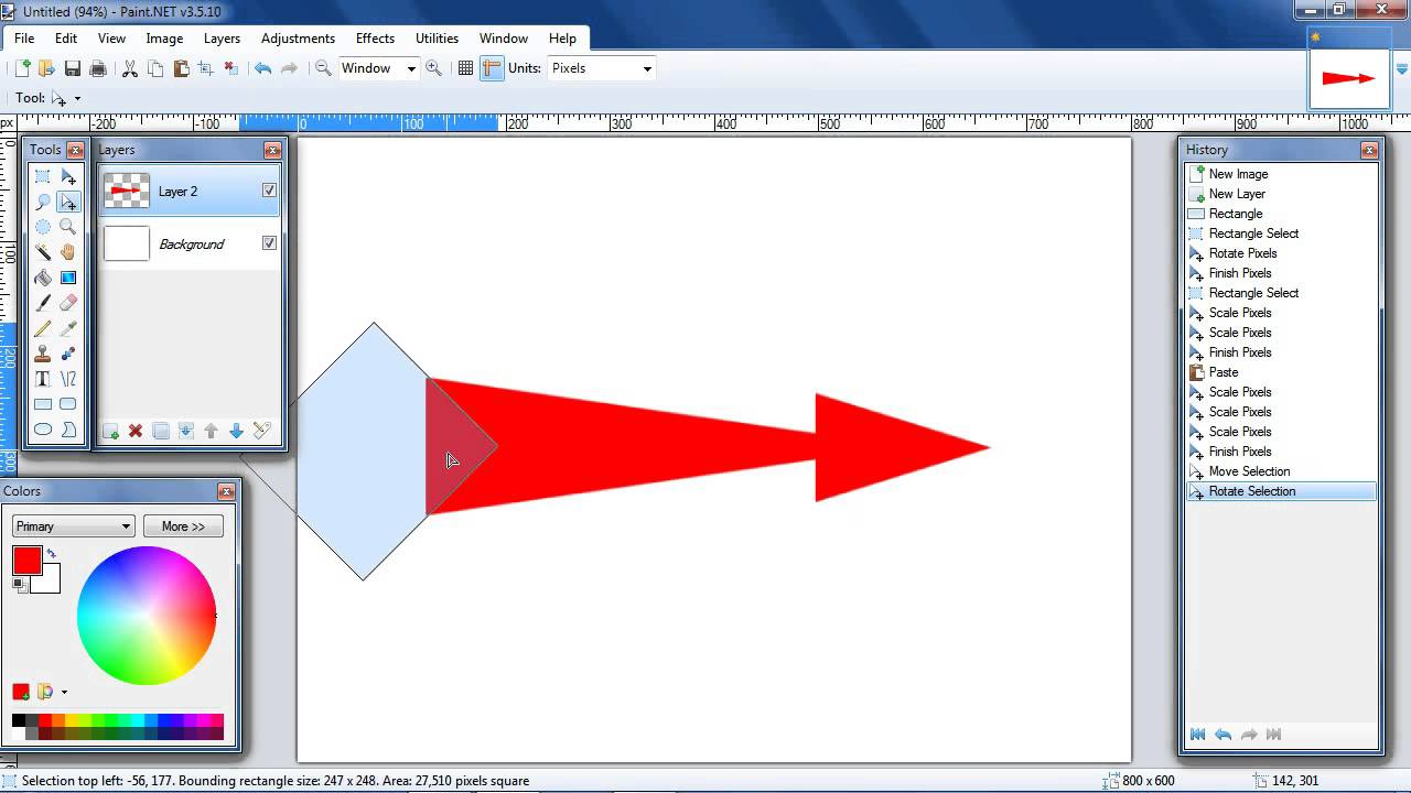 How To Draw A Curved Arrow In Paint Net