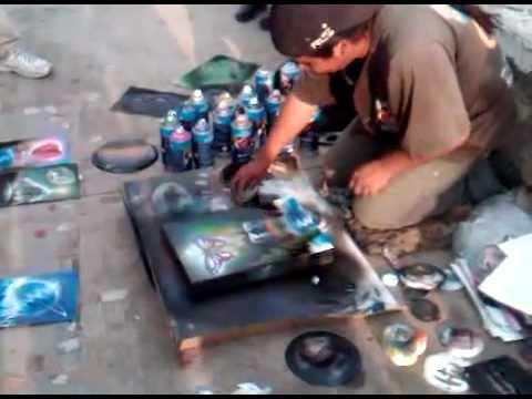 Cuadros pintados con aerosol youtube - Cuadros pintados con spray ...