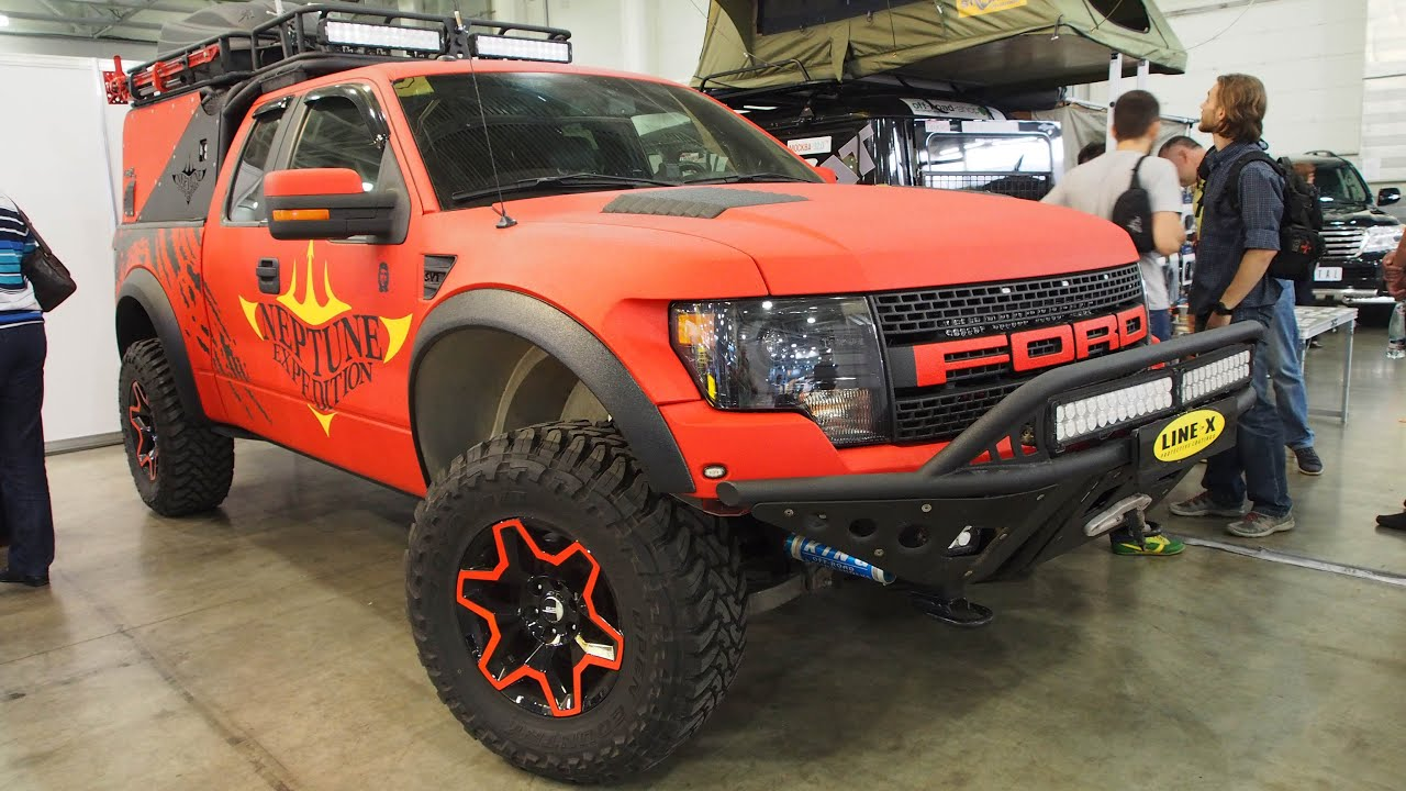 ford f150 raptor 62l sct neptune expedition offroad tuning moscow offroad show 2015 youtube