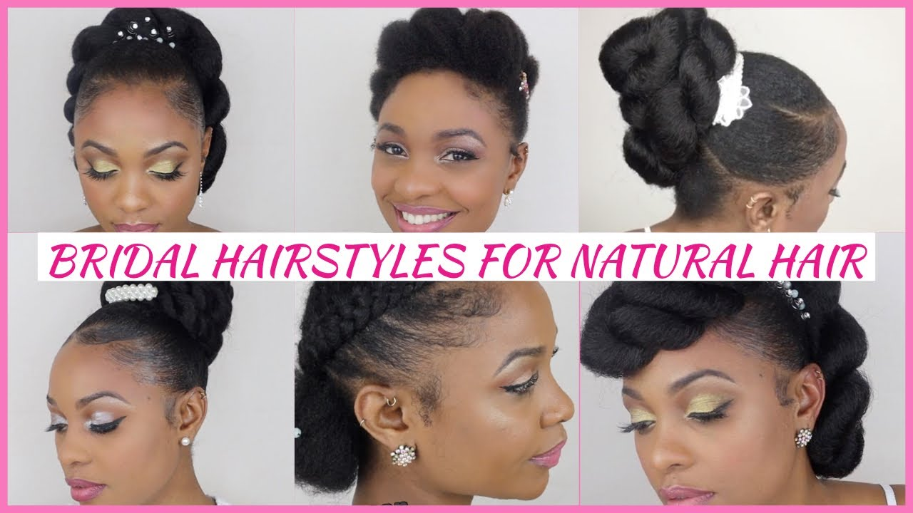 Easy Bridal Updo Wedding Hairstyles For Black Women 2020 Natural