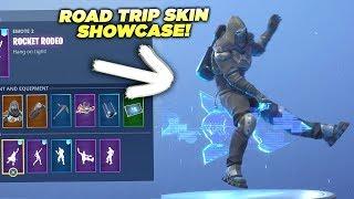 *NEW* Road Trip Skin SHOWCASED with 20+ EMOTES! Fortnite Battle Royale (Unlocked Road Trip Skin)