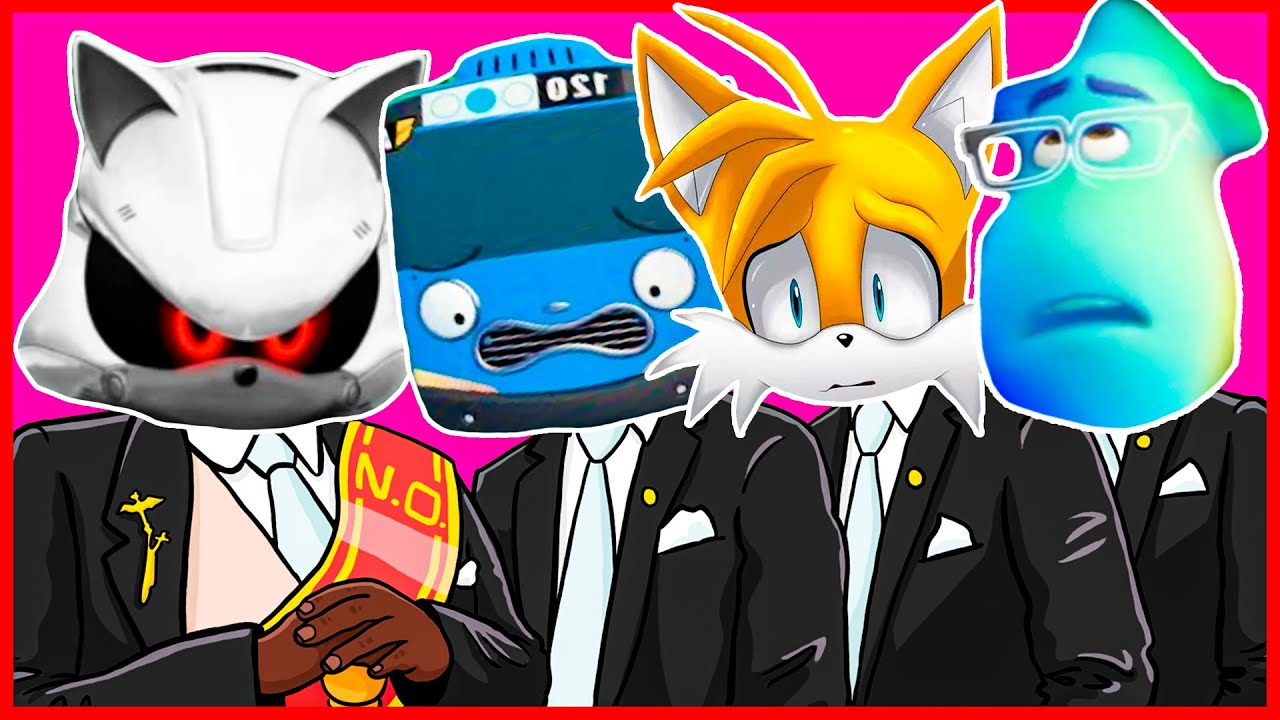 Metal Sonic & Tayo the Little Bus & Soul & Tails - Meme Coffin Dance COVER