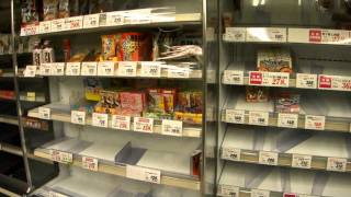 magnitude 9.0 - Tohoku pacific earthquake - empty grocery market in tokyo 3days after the quake.m2ts