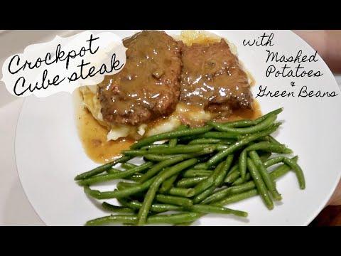 Crockpot Cube Steak | Easy Dinner Idea