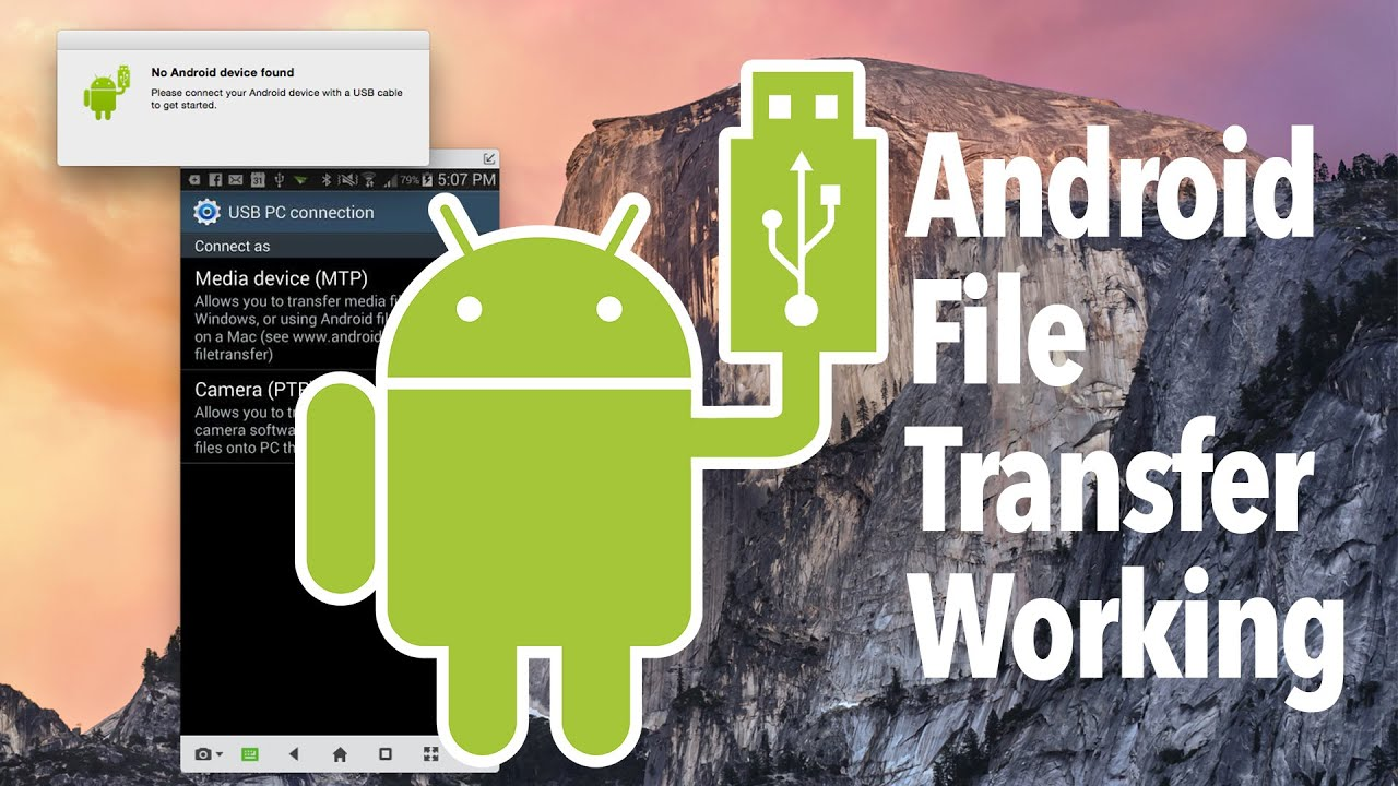 android file transfer mode