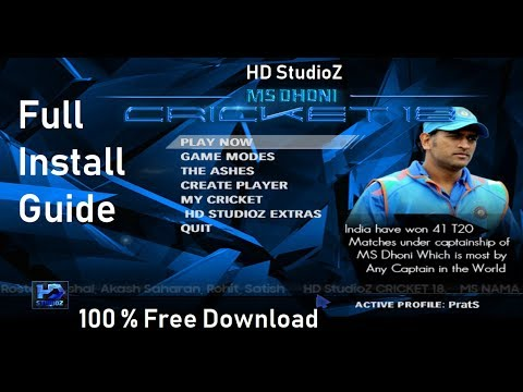 How to Download + Installation + Gameplay of HD StudioZ MS Dhoni Cricket 18 Patch for Cricket 07