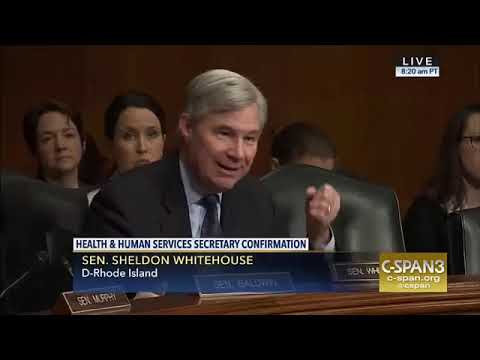 RI Sen. Sheldon Whitehouse discusses Coastal Medical during the HHS Secretary Confirmation Hearing