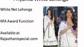 Priyanka Chopra White Net Lehenga - IIFA awards