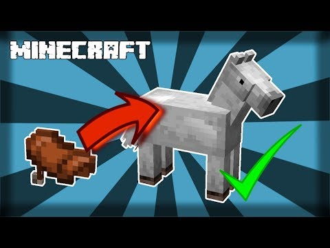✔-minecraft-|-how-to-put-a-saddle-on-a-horse!-1.14.4