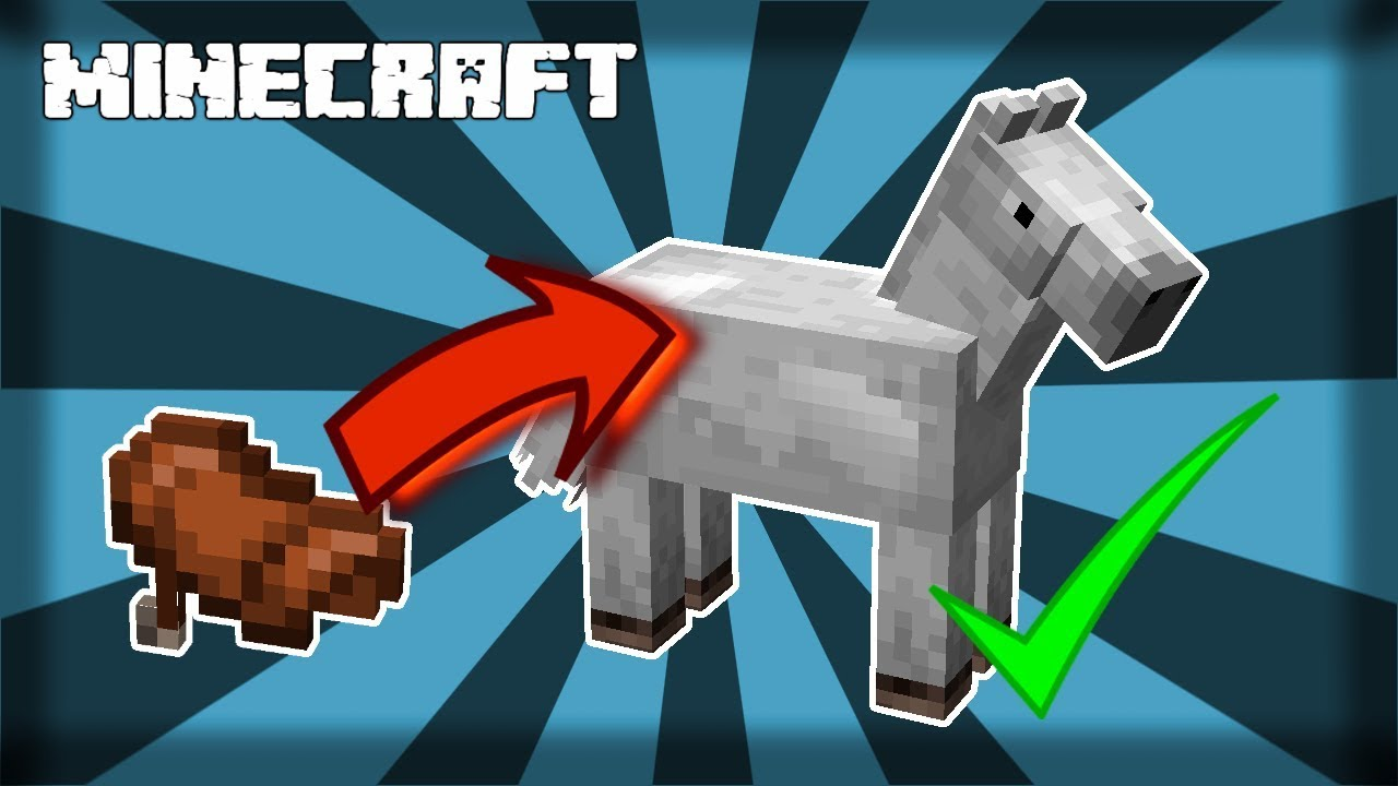 ✔ MINECRAFT | How to Put a Saddle On a Horse! 1.14.4