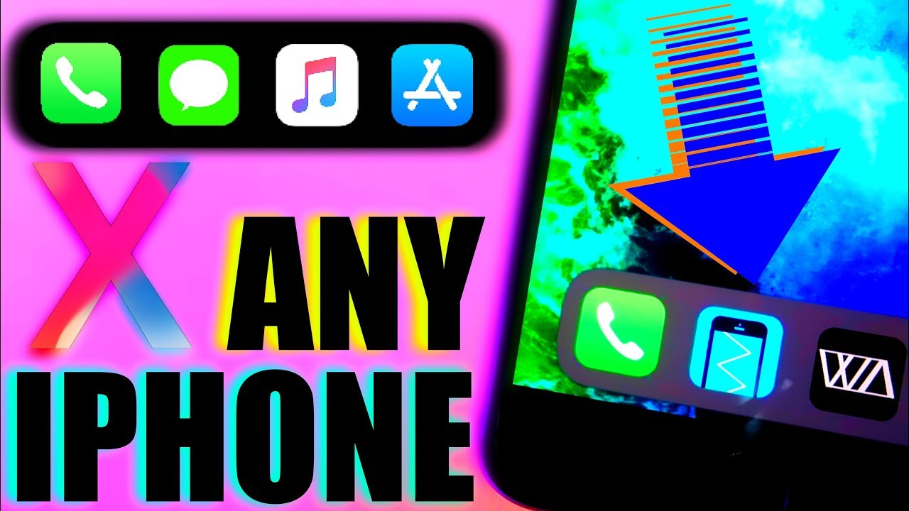 best loved f4db5 07b9d HOW TO GET IPHONE X DOCK ON ANY IPHONE / GET IPHONE X DOCK ON IOS 11 FOR  ANY IOS DEVICE NO JAILBREAK