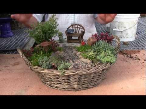 fairy garden 1 diy minigarten im topf eng sub doovi. Black Bedroom Furniture Sets. Home Design Ideas