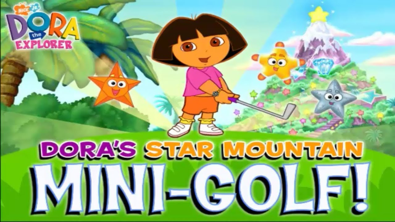 Dora's Star Mountain Mini-Golf Game - Play online at Y8.com