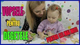 Desenam cu Vopsele pentru Degetele COMESTIBILE Video pentru Copii