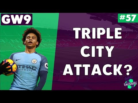 TRIPLE CITY ATTACK? | Gameweek 9 Let's Talk Fantasy Premier League 2017/18 | #57