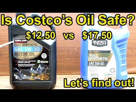 Is Costco's Kirkland Motor Oil Safe for Your Car?  Let's find out!  SuperTech Synthetic vs Kirkland