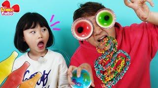 NIK-L-NIP Wax Bottle 닉클립 왁스병 캔디 로프젤리 RAINBOW NERDS ROPE JELLY 눈알젤리 eyeball jelly UFO Candy 우주캔디  먹방