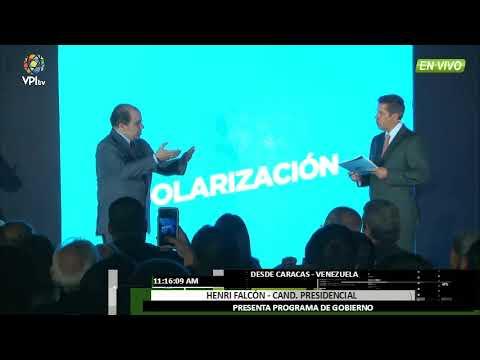 Venezuela - Henri Falcón presentó plan de gobierno  - VPItv