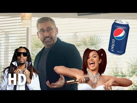 Pepsi: Steve Carell, Lil Jon And Cardi B In Hilarious Super Bowl Advert