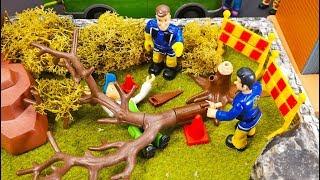 Feuerwehrmann Sam Spielzeug Folge: Achtung Baum fällt! Ist Mike verletzt? Feuerwehr Film für Kinder