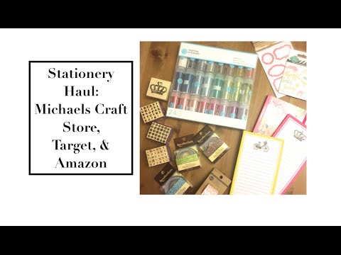 Stationery haul michaels craft store target amazon for Michaels craft store watches