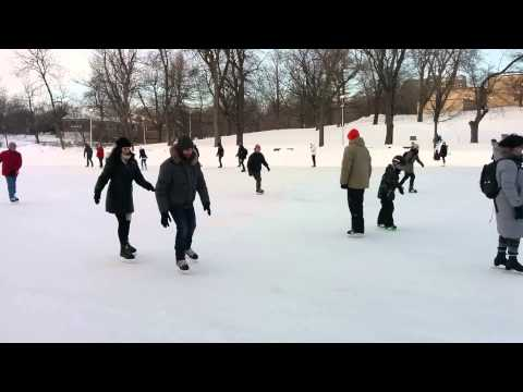 Patinage au parc La Fontaine de Montréal