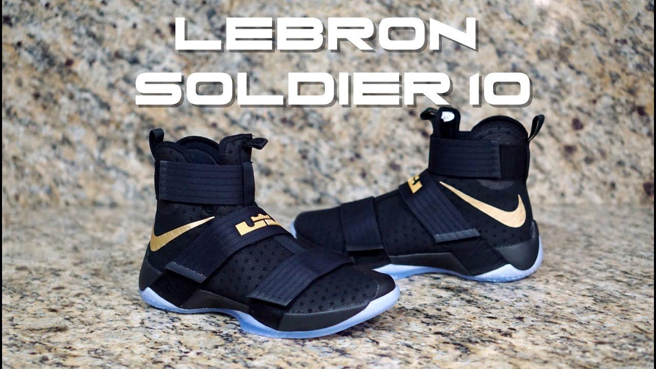 quality design af474 219f3 Nike LeBron Soldier 10 Championship iD Always Believe 2016