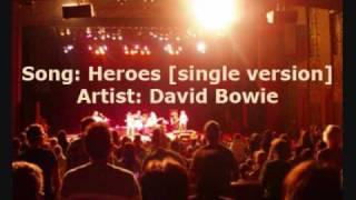 Heroes [Single Version] - David Bowie