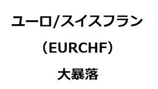 【FX】2015年1月15日のユーロ/スイスフラン大暴落の解説 thumbnail