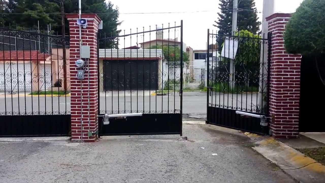 Puertas automaticas porton abatible seg pivus alarma for Puerta automatica no abre