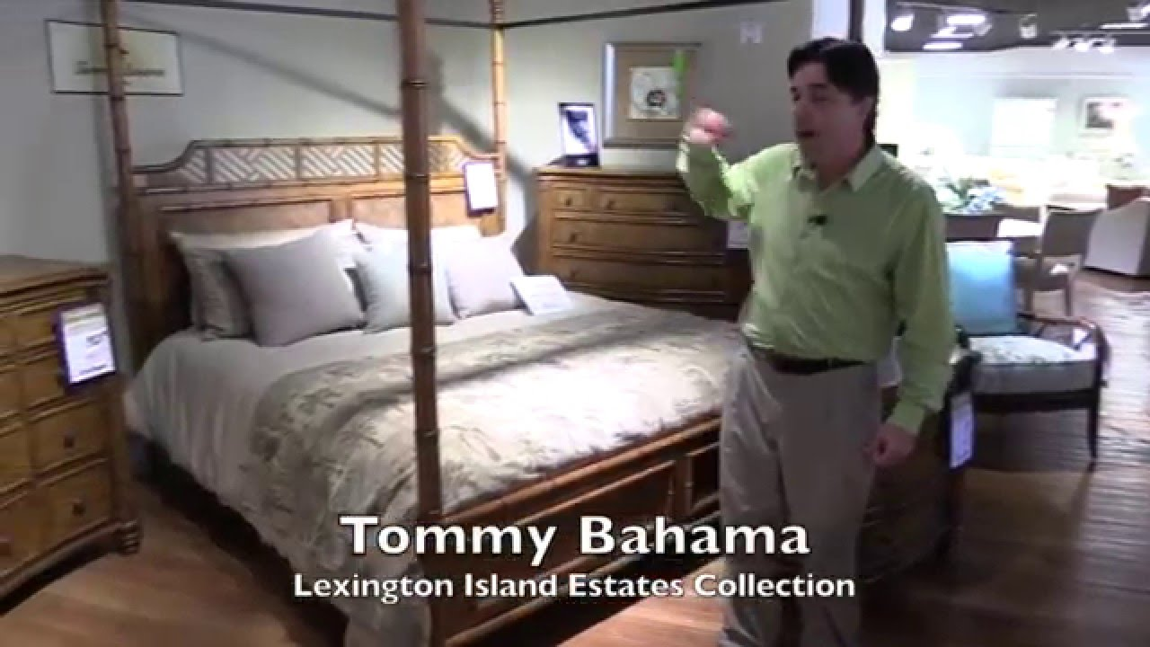 Hudsonu0027s Clearwater Bedroom Furniture Lexington Tommy Bahama 4 Post Bed    YouTube