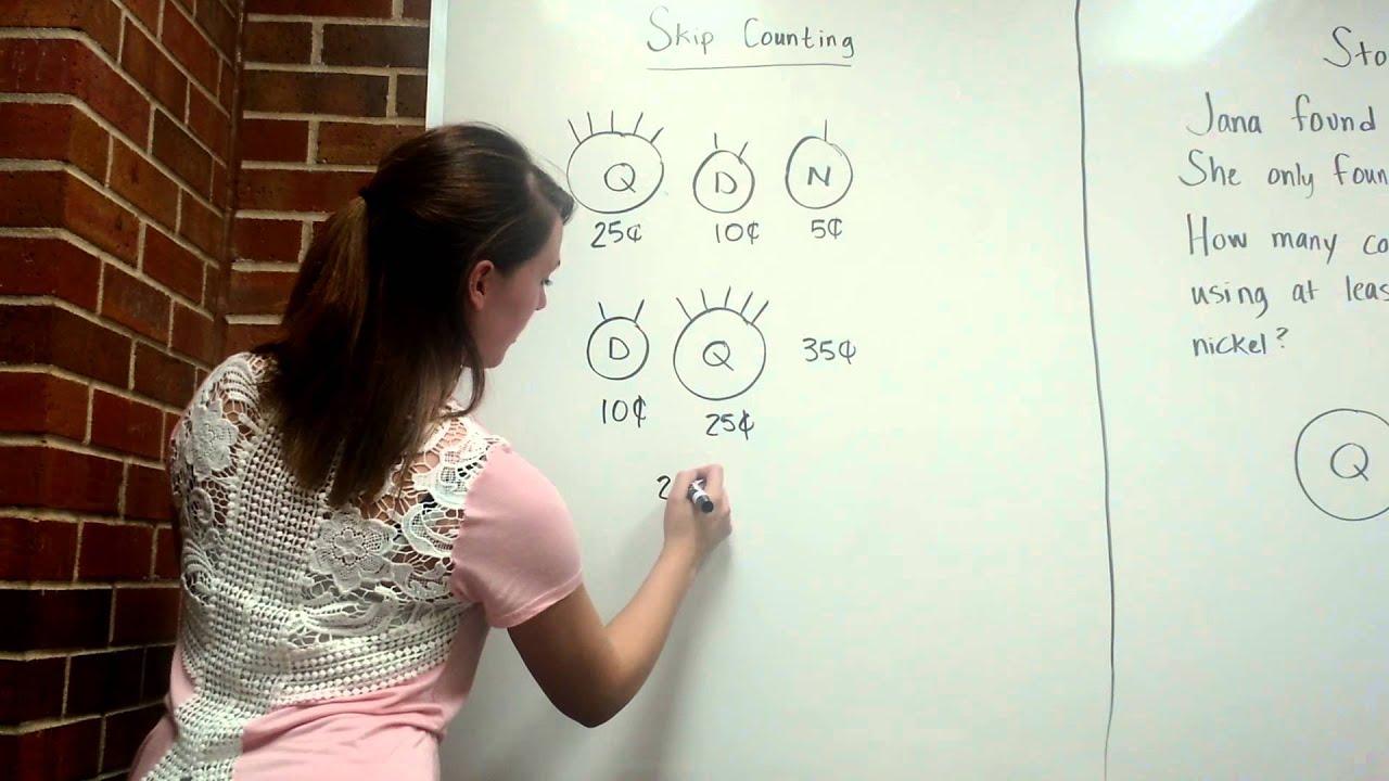 Teaching 2nd Grade To Skip Count Using Money Youtube