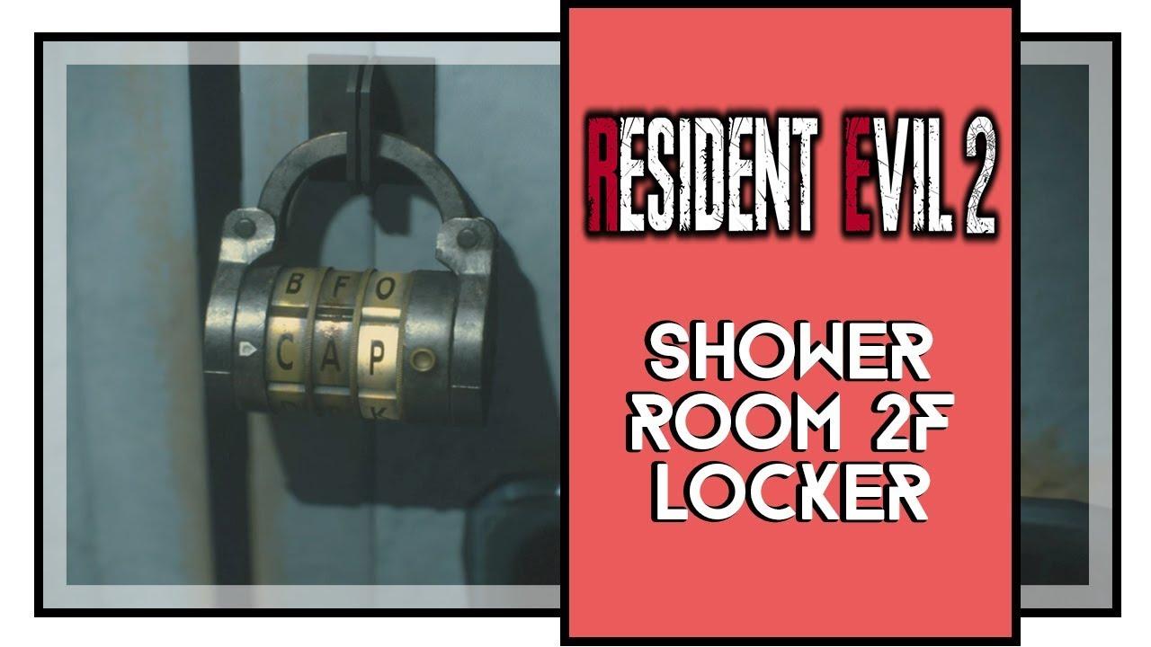 Resident Evil 2 Remake Shower Room 2f Locker Code Police Station Youtube