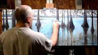 Painting Process: Cypress Trees on Lake St John