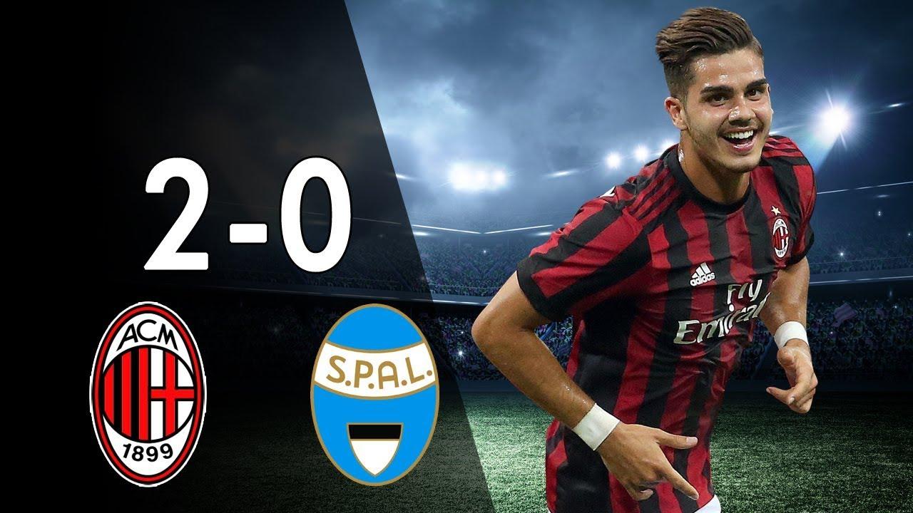 Ac Milan Vs Spal 2 0 All Goals Highlights 20 09 2017