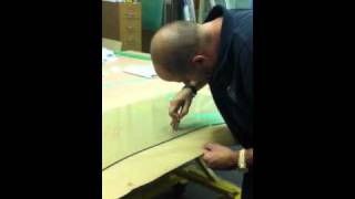 Cutting glass table tops