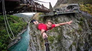 Extreme Bungy Jumping with Cliff Jump Shenanigans! Play On in New Zealand! 4K!(Check out the Behind The Scenes here: https://www.youtube.com/watch?v=OAS9-ScRFXs Huge thanks to 100% Pure New Zealand for giving us the opportunity ..., 2015-03-24T01:04:41.000Z)