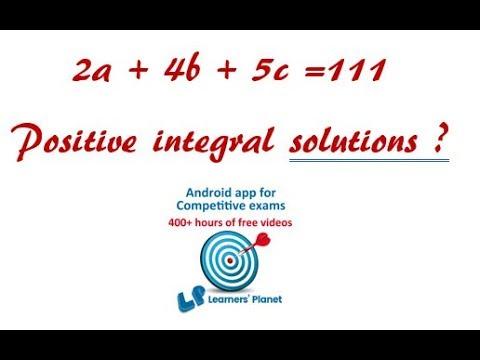 Integral solutions of the given equations CAT Quantitative aptitude
