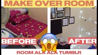 MAKE OVER KAMAR KOS KOSAN KECIL ALA TUMBLR || ROOM MAKEOVER #PART1