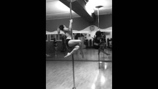 Sheila teaching Santa Baby Basix pole dance routine @ APD Studio