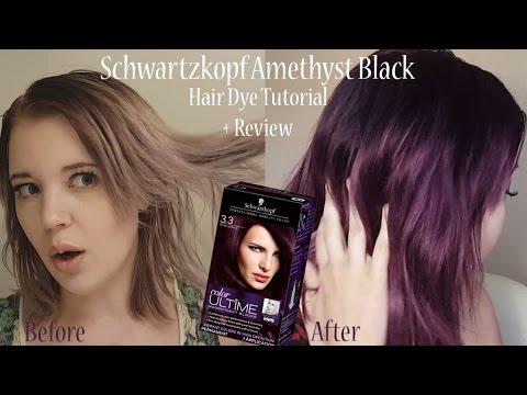 Schwartzkopf Quot Amethyst Black Quot Demo Review Youtube