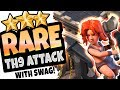 RARE TH9 ATTACK SPOTTED - CRAZY EFFICIENCY - Clash of Clans