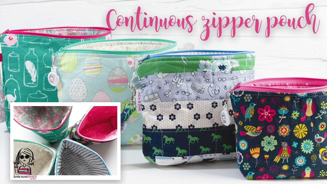 Continuous Zipper Pouch Fully Lined