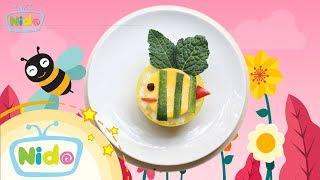 Món ăn ngọt ngào: Hướng Dẫn Làm Bento Bé Ong Dễ Thương - Bé vào bếp cùng mẹ | Nido Channel