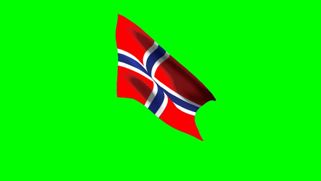 animated norway flag green screen youtube